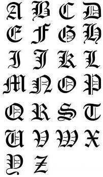 alphabet gothique lola la gothique. Black Bedroom Furniture Sets. Home Design Ideas